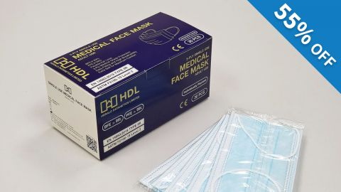 HDL Level 2 醫用口罩(30片獨立包裝) 45折優惠碼