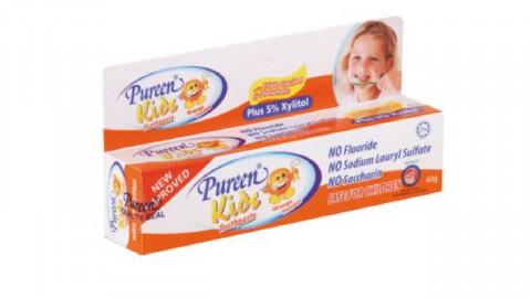 【至荀貨】Pureen無氟牙膏橙味40克(一套3支)