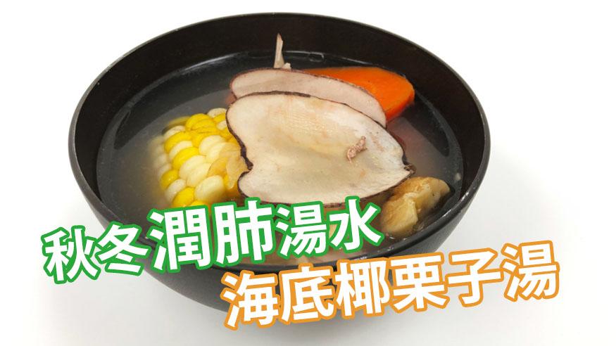 海底椰栗子湯食譜  止咳潤肺+解燥清熱