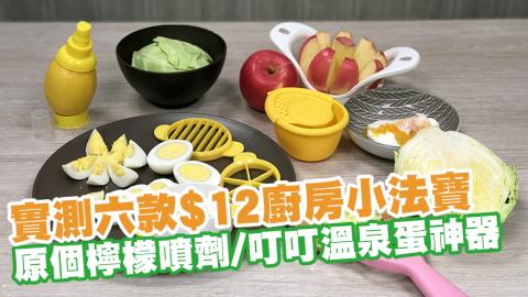 實測六款$12廚房小法寶 原個檸檬噴劑/叮叮溫泉蛋神器/蘋果切片器