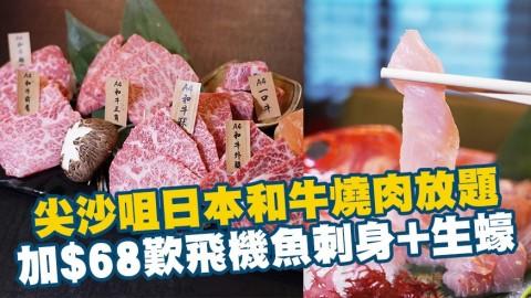 尖沙咀日高見和牛燒肉放題 新優惠加$68歎直送飛機魚刺身+生蠔