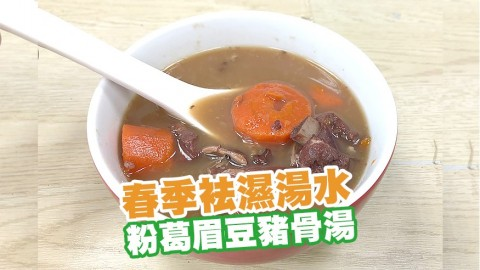 春季袪濕湯水 粉葛眉豆豬骨湯