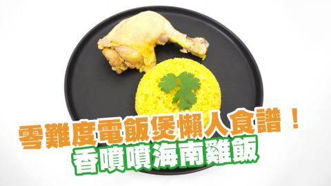【懶人食譜】零難度電飯煲懶人食譜! 香噴噴海南雞飯