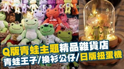 荔枝角Q版青蛙主題精品雜貨店!扭蛋機/青蛙王子/換衫公仔/夜燈