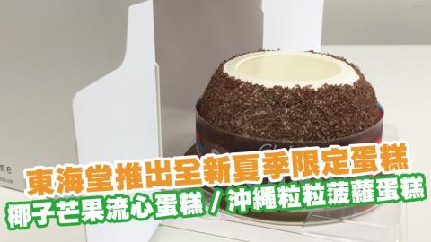 東海堂推出全新夏季限定蛋糕 椰子芒果流心蛋糕/沖繩粒粒菠蘿蛋糕