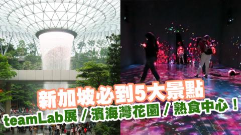 新加坡必到5大景點 teamLab展/濱海灣花園/熟食中心!