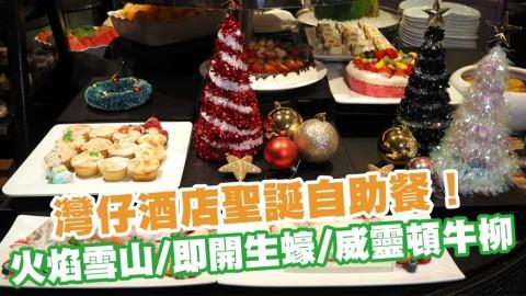 灣仔諾富特世紀酒店Novotel Le Cafe推出$335聖誕自助餐!任食火焰雪山/即開生蠔/威靈頓牛柳