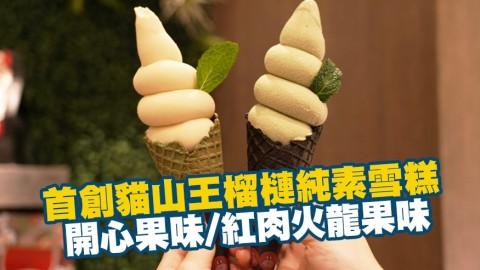首創貓山王榴槤純素雪糕 開心果味/紅肉火龍果味超香滑濃郁!