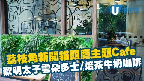 【荔枝角美食】荔枝角新開貓頭鷹主題Cafe 歎明太子雲朵多士/焙茶牛奶咖啡