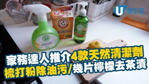 梳打粉除油污/幾片檸檬去茶漬 家務達人推介4款天然清潔劑