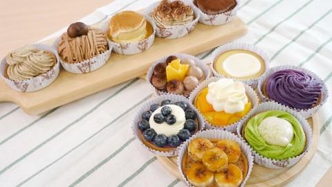甜品網店手作麻糬撻+果撻 抹茶麻糬/紫薯芝士/芒果撻