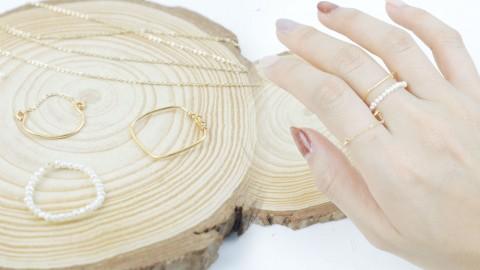 【戒指DIY】超美仙氣戒指DIY教學!珍珠、鏈條、幾何!用3個時尚元素自製專屬戒指
