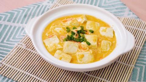 3步新手零失敗簡單家常小菜 平價版蟹黃豆腐煲食譜