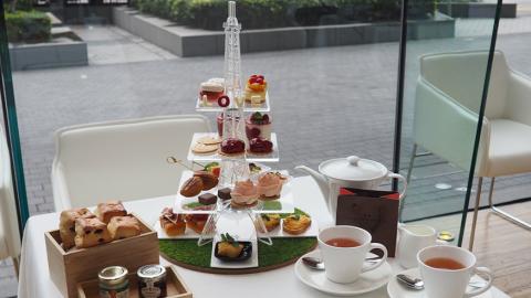 尖沙咀Hotel ICON巴黎鐵塔主題酒店下午茶 芝士玫瑰撻/蝴蝶酥/瑪德蓮蛋糕