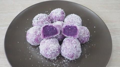 6款簡易紫薯甜品食譜推介 紫薯椰汁西米露/紫薯糯米糍/紫薯千層糕/紫薯麻糬波波