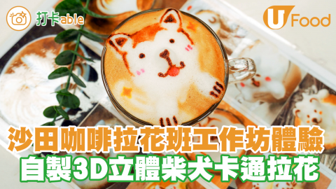 沙田石門咖啡拉花班工作坊體驗 自製3D立體卡通拉花/LatteArt Workshop