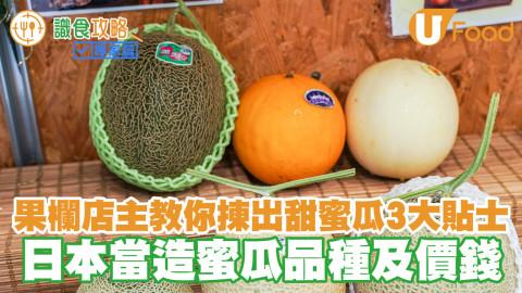 果欄店主教你揀出甜蜜瓜3大貼士 日本當造蜜瓜品種及價錢