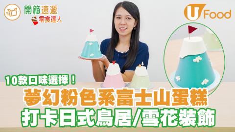 打卡生日蛋糕之選!IG甜品網店富士山蛋糕 粉色系配日式鳥居/雪花裝飾